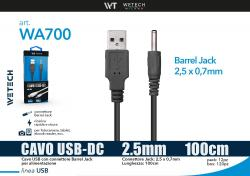 cavo Barrel Jack 2.5mm